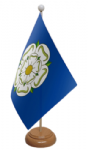 Yorkshire Desk / Table Flag with wooden stand and base